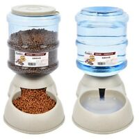 Pet Dog Puppy Cat Automatic Water Dispenser Food Dish Bowl Feeder 3.8L Pet Tool