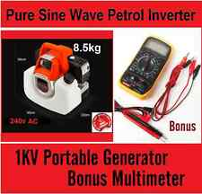 New 240v Output Pure Sinewave Generator Petrol Portable Inverter + Multimeter
