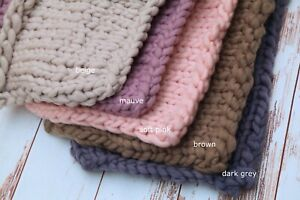 New Colours! Newborn Chunky Knit Bump Blanket Photo Prop Layering Photography
