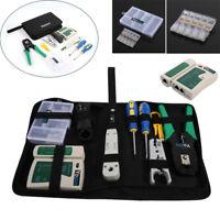 9in1 Netzwerk Werkzeug Set Crimpzange LAN LSA Kabeltester Drahtschneider BG 05