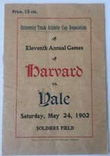 1902 Harvard vs Yale   Track And Field Soldiers Field Harvard