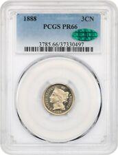 1888 3cN PCGS/CAC PR 66 - 3-Cent Nickel