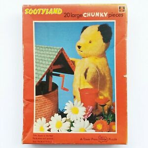 Tower Press Sootyland Vintage Jigsaw Puzzle 20 Piece Chunky Piece Puzzle.