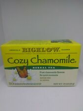 Bigelow Cozy Chamomile Herbal Tea .73oz 20 Bags. Expires 09/2021