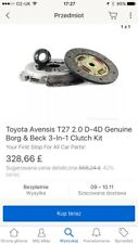 Cluch Kit Para Toyota Avensis T27 2.0 D4D o 2d AURIS. 2009 - 2014 años