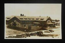 RPPC 1930s El Escalante Hotel Old Cars Union Pacific Railroad Cedar City UT Iron