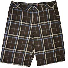 Quicksilver Men's Plaid Board Beach Bermuda Shorts 31 Brown Multi