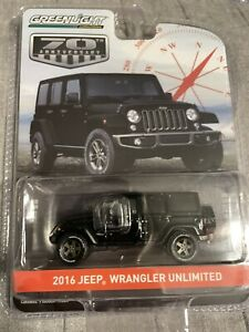 1/64 Greenlight 70th Anniversry 2016 Jeep Wrangler Unlimited Diecast model car