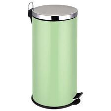 VERDE PALLIDO IN ACCIAIO INOX 30 LITRI CON PEDALE passo per i rifiuti di cucina casa spazzatura