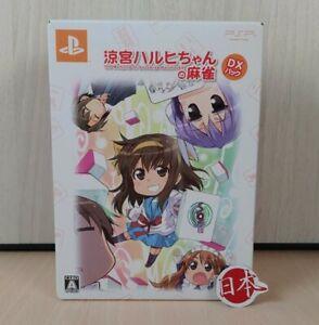 Suzumiya Haruhi-Chan no Mahjong DX PlayStation Portable JAPAN Bandai FREE SHIP