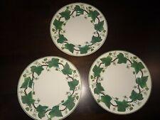 "3 Wedgwood NAPOLEON IVY 7"" Dessert / Pie Plates * Queens Ware England"