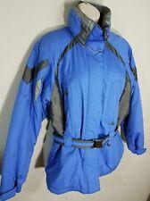 Womens POLAR EDGE Ski Coat Jacket Size M Purple Blue Belt Attached Hood EUC