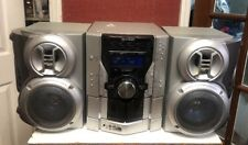 Rare! Sharp CD-ES600 5-Disc CD Stereo (Silver) Side Blasting Bass Tested!