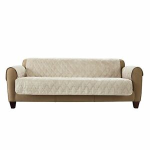 """Surefit Sofa Furniture Cover Soft Mink Taupe Seating up to 70"""""""