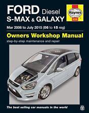 6299 Haynes Ford S-MAX & GALAXY Diesel (Mar 2006-LUGLIO 2015) Manuale Officina