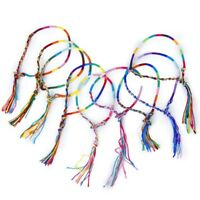 9 x Hippie Style nappa braccialetti tessuti Colore casuale U8Z5