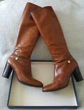 Vintage Salvatore Ferragamo Knee High Leather Boots Size 7.5M 38 Carla