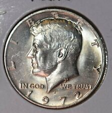 1972 D KENNEDY HALF DOLLAR. VERY ODD TONING OBVERSE  GREAT CONDITION  LOOK!
