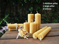 Handmade Honeycomb Rolled Beeswax  Large & Medium Pillar & Votives