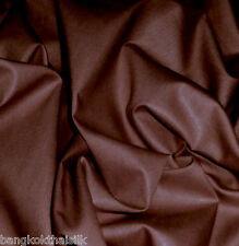 10 YARDS CHOCOLATE BROWN POLISHED COTTON SHINY FABRIC DRAPE DRESS SKIRT CRAFT
