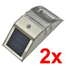 2x Super Bright Solar Power Motion Sensor LED  Garden Wall Path Light OZ Stock