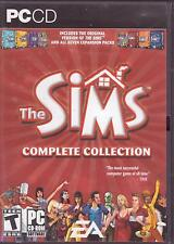 PC GAMEs:  THE SIMS 1 & 2 COLLECTION Bon Voyage Ikea H&M Holiday Glamour Seasons