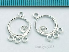10x STERLING SILVER CHANDELIER EARRING CONNECTOR BEAD 11.4mm #537A