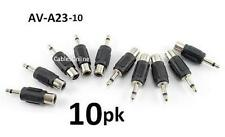 10-PACK RCA Female to 3.5mm Mono Male Plug Audio Adapter, CablesOnline AV-A23-10