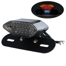 12V Motorcycle 20 LED Turn Signals Running License Plate Integrated Tail Light
