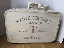 HAND PAINTED SUITCASE repurposed home decor Shabby Chic