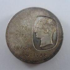 VENEZUELA SILVER 30 GR. COIN 10 BOLIVARS 1873-1973