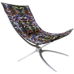 Missoni Home Ambrogina Folding Chair in Printed Satin Tiger Fabric