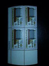 US SC#1500 Progress in Electronics Marconi's Coil/Gap 6c 4 block MNH 1973 -#811