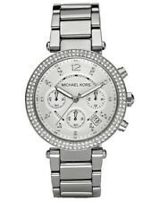 NEW MICHAEL KORS MK5353 LADIES SILVER PARKER WATCH - 2 YEARS WARRANTY