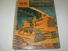 Allis Chalmers HD 20H Crawler Service Manual , Diesel , 1955