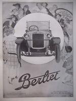PUBLICITÉ DE PRESSE 1923 AUTOMOBILES BERLIET - DRAEGER - ADVERTISING