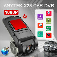 Anytek X28 Auto DVR Kamera Video Recorder WiFi ADAS G-Sensor Dash Cam FHD 1080P