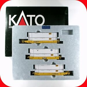 N Scale TTX No.2 732753 Gunderson MAXI-IV Double Stack Well 3-Car, KATO 106-6115