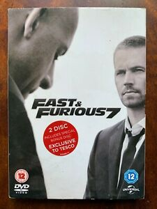 Fast and Furious 7 DVD 2015 Action Car Chase Movie with Paul Walker w/ Slipcover