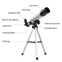 Astronomical Telescope Monocular Refractor Spotting Scope With Tripod 360x50mm
