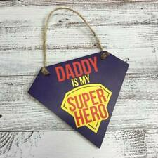 Daddy is My Superhero Printed Plaque Gift Fathers Day Birthday Sign