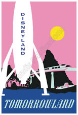 Disneyland Vintage 1966 Tomorrowland Poster