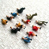 48 pcs HO scale Model Figure Seated People all sitting passenger Layout Scenery
