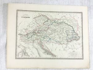 1846 Antique Map of Austria The Austrian Empire Rare Hand Coloured Engraving