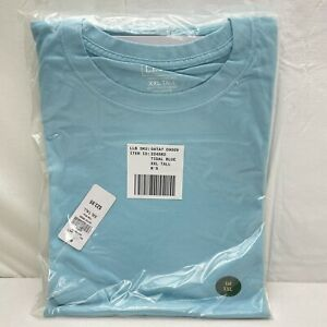 LL Bean Men's XXL Tall Carefree Unshrinkable Tee Traditional Fit Tidal Blue