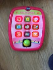 Vtech Tiny Touch Tablet Pink Girls Great Used Condition Educational Interactive