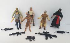 """Indiana Jones 3.75"""" Action Figures Hasbro Lot Mutt Cairo German Soldier Ucha"""