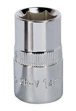 "Sealey WallDrive ® socket 14mm 1/2""Sq drive fully polished SP1214"