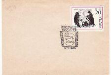 V103 enveloppe thème CHIEN flamme POLOGNE warsana 1986 wystawa miedzynarodowa