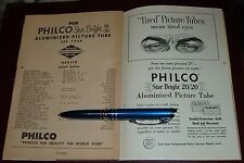 1956 PHILCO PICTURE TUBE AD~GEORGIA DEALERS~ATLANTA~COLUMBUS~STAR BRIGHT 20/20